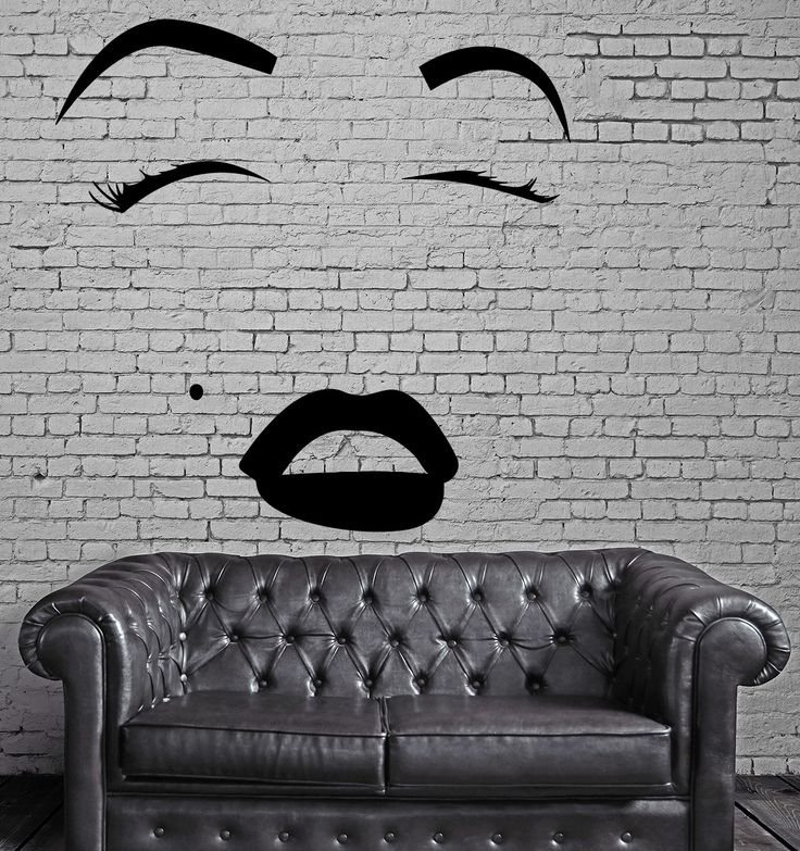 Face Makeup Lip Cosmetics Beauty Salon Woman Wall Sticker Vinyl Decal (ig2057)