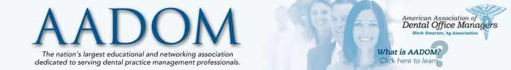 American Association of Dental Office Managers Logo | American Association of Dental Office Managers (AADOM) | Red Bank, NJ
