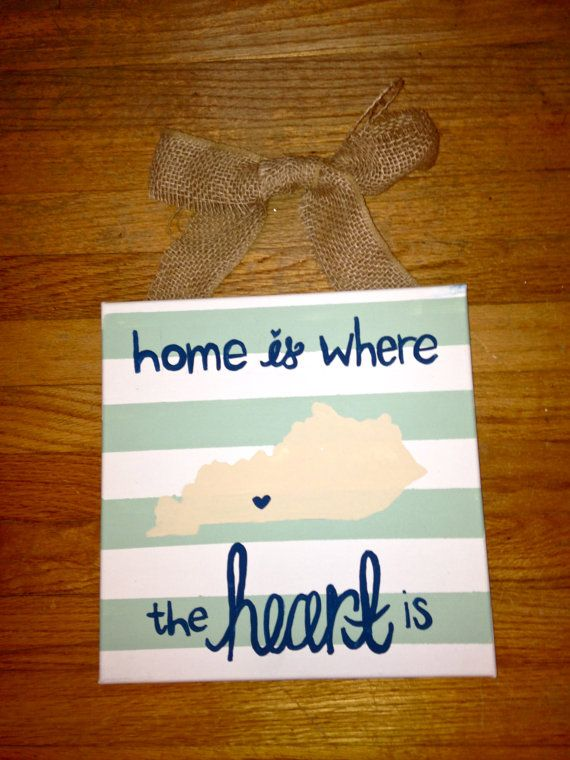 Home Is Where the Heart Is Canvas - Kentucky.
