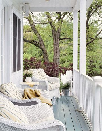 Reading Porch - I so want this on my porch. Love the