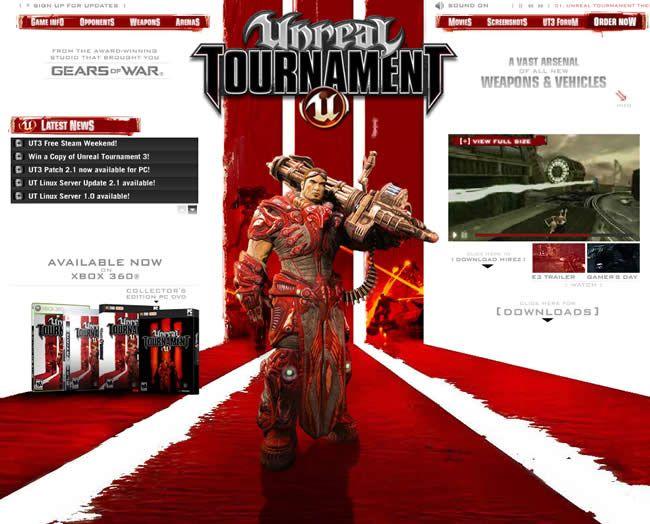 Unreal Tournament 3 website