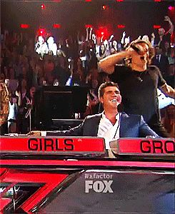 """(GIF) Simon is like """"I can't believe that this idiot is my doing....."""" I loved this part"""