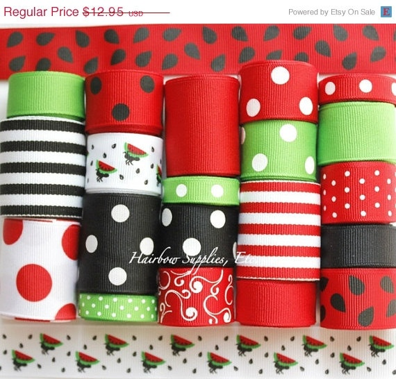 20 OFF SALE Watermelon Ants Summer Picnic 20 by HairbowSuppliesEtc, $10.36
