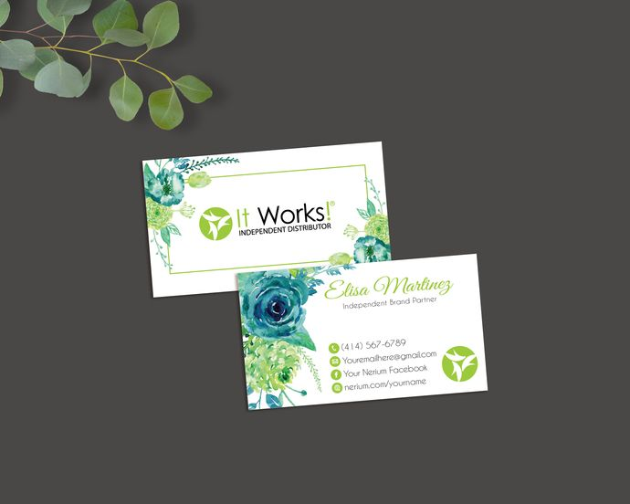 Personalized It Works Business Card It Works Independent
