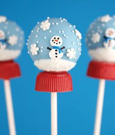 Snow Globe Cake Pops - Cake pops you would love to taste and that will tempt you…