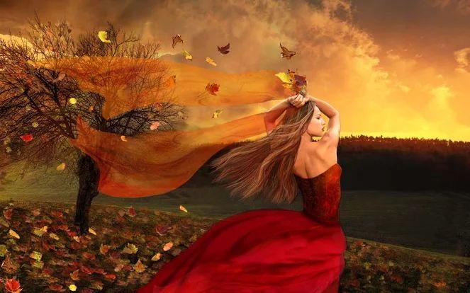 ...А потом наступает осень,  Ветер в спину и дождь в окно.  Одиночество ... Ну, а впрочем,  Это грустно, но так смешно.  Улыбаясь, ты шлёшь подальше  Все несбывшиеся мечты.  Понимая, что чем ты старше,  Тем красивей горят мосты...   © Copyright: Катеринка Дорошевич, 2013