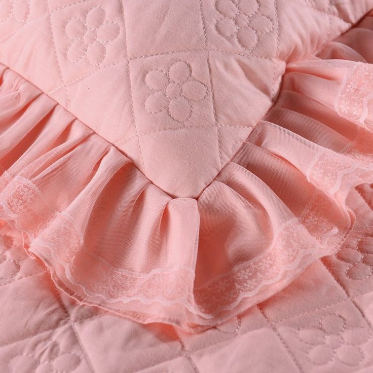 100% Cotton Princess Lace Bedding set Bed skirt Pillowcases Pink Bege King/Queen/Full size 3Pcs Bedsheet For Girl Gifts 3