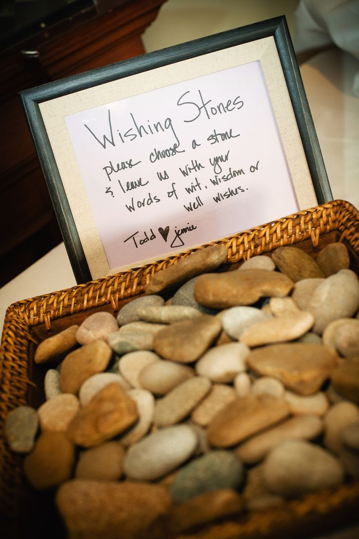 A creative twist for a guest book; Wishing Stones for ...