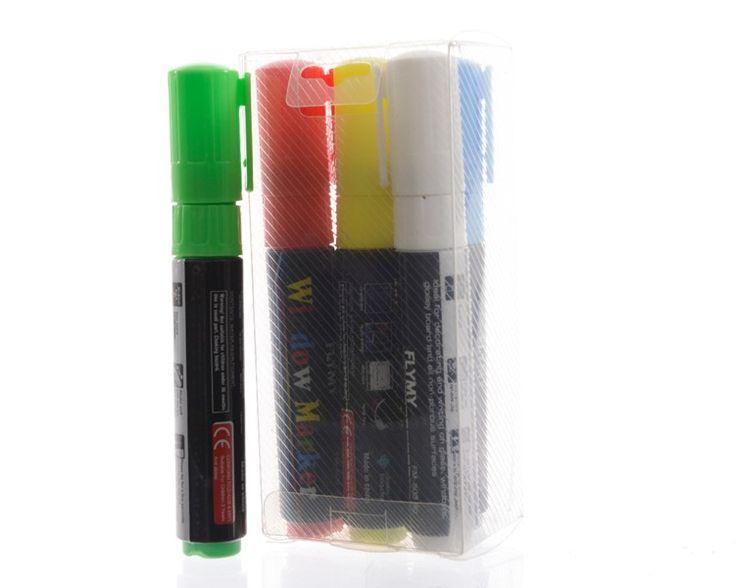 Markers Fluor v. Glas en LED schrijfbord  Bestel Markers Fluor v. Glas en LED schrijfbord voor 13.03 EUR bij Massamarkt. Da's een partij voordelig!  EUR 13.03  Meer informatie