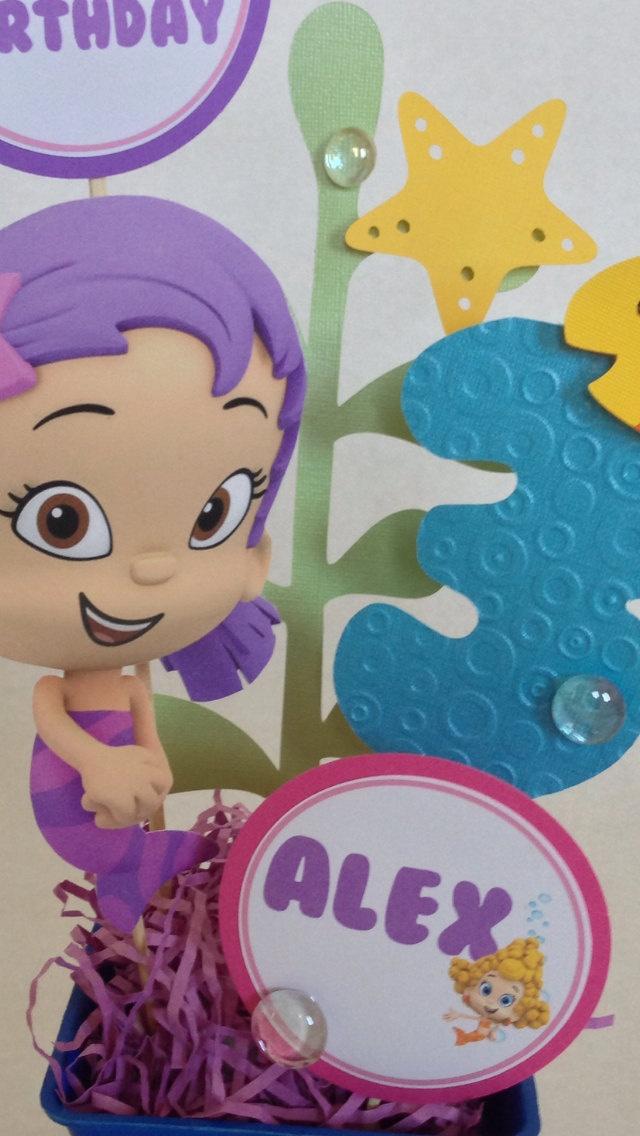 25 best bubble guppies centerpieces ideas on pinterest - Bubble guppies center pieces ...