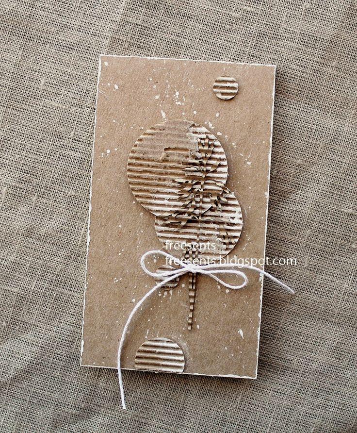 Картинки, открытки из крафт бумаги в технике скрапбукинг своими руками для начинающих