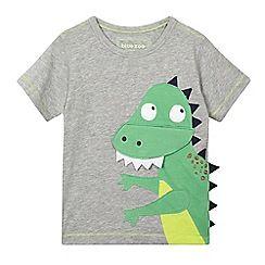 bluezoo - Boys' grey applique dinosaur t-shirt