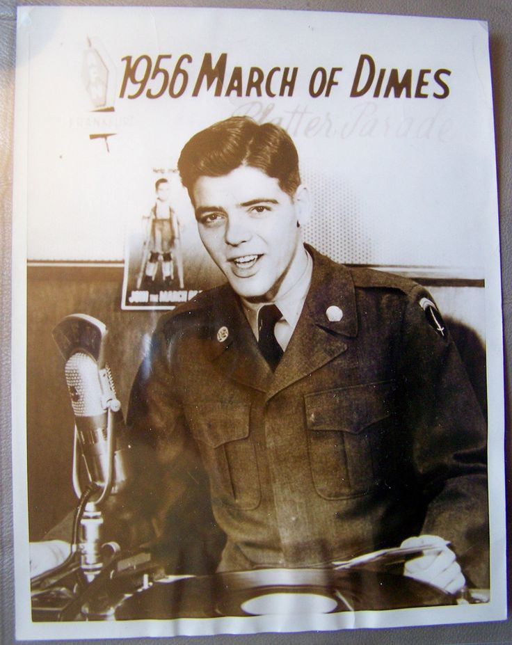 "January 17, 1956 NICK CLOONEY ARMED FORCES NETWORK ""Platter Parade"" DJ United Press photo 