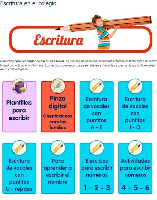 Estas diecisietepáginas webs contienen recursos, ejercicios y fichas que permitirán mejorar la caligrafía de los alumnos de Infantil y Primaria.