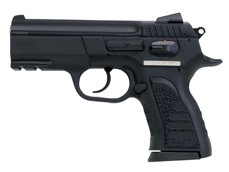 "EAA Tanfoglio Witness Polymer Compact - Length: 7.3""; Height: 4.5""; Weight w/magazine: 1.75lbs; Mag Capacity: 14; MSRP: $571"