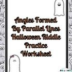Angles Formed by Parallel Lines Halloween Riddle Worksheet  This riddle worksheets covers the types of angles formed when a transversal intersects ...
