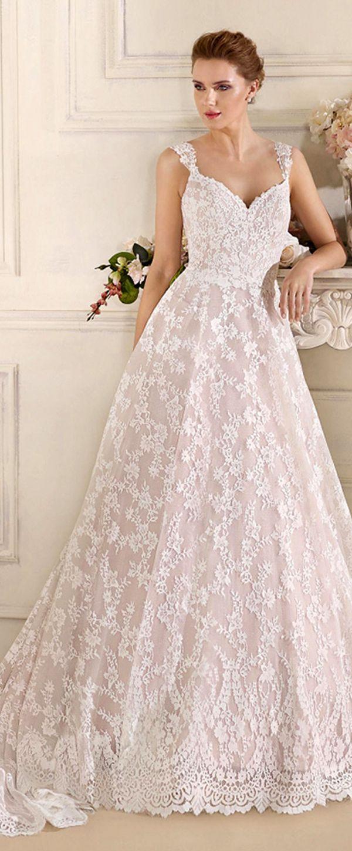 Bridal water lily 2226 wedding dresses photos brides com - Fabulous Lace Satin V Neck A Line Wedding Dresses