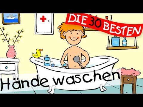 Hände waschen, Hände waschen muss ein jedes Kind: #Lied mit sämtlichen Strophen mit sämtlichen #Körperteilen.