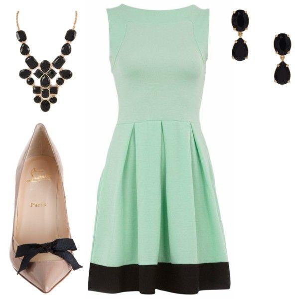 Outfit: Woman Outfit, Color Combos, Mint Color, Tans Pumps, Mint Dresses, Tans Heels, Fashion Women, Mint Green Dresses, Dresses Party