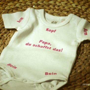 Babybody - Papa, du schaffst das! - Flexfolie - individuelles Geschenk zur Geburt