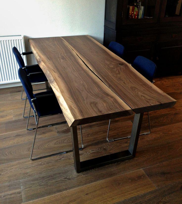 25 beste idee n over houten tafelbladen op pinterest tafel blad ontwerp moderne tafel en - Tafel een italien kribbe ontwerp ...