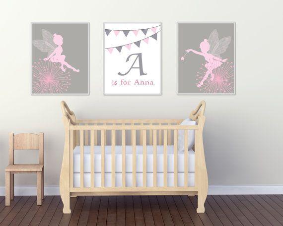 Baby Mädchen Kindergarten Wandkunst individuelle Namen und