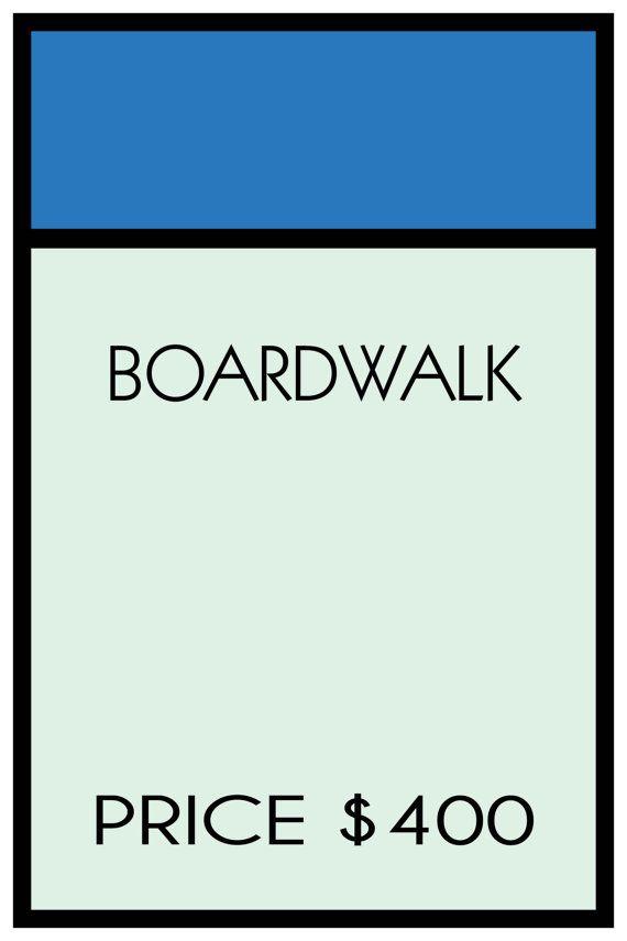 Monopoly Boardwalk 18 x 24 Custom Poster by SweetestSaranade