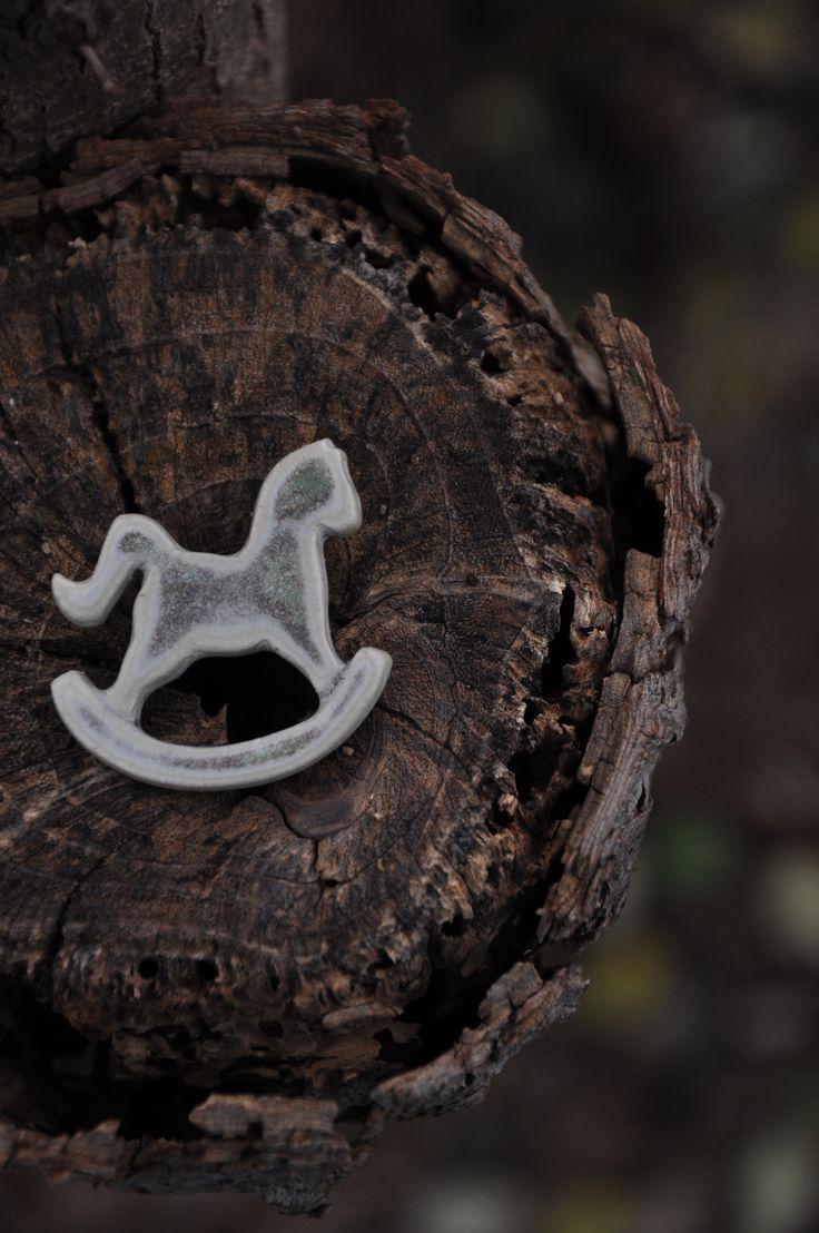 This rocking horse...rocks!  Ceramic token!