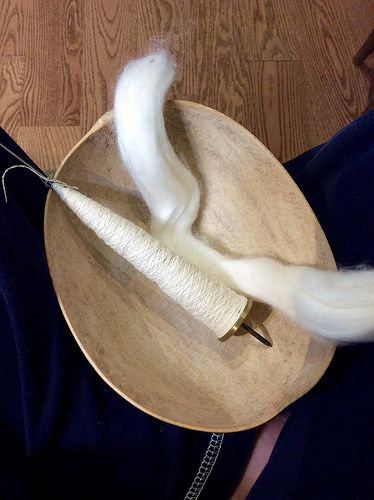 Spinning Egyptian cotton on coin takhli spindle by irieknit