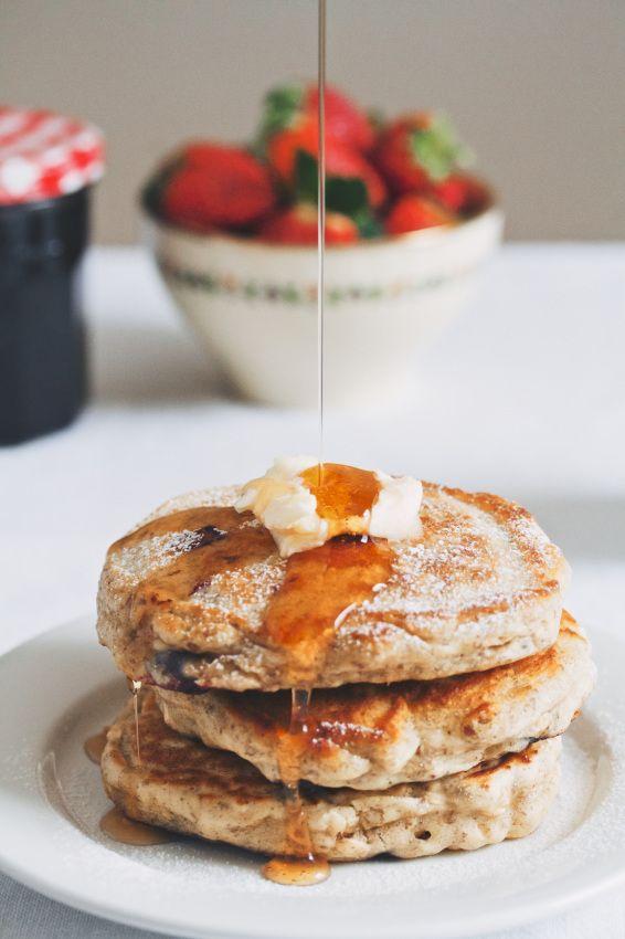 blueberry oat pancakes | movita beaucoup #breakfast