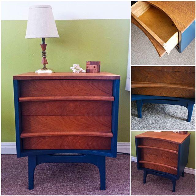 MCM Walnut Side Table - Sold  #mcm #furniture