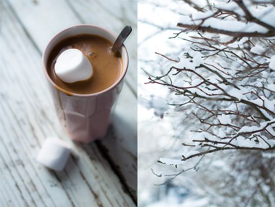 Orange Hot Chocolate with Coriander Seed: Photos, Hot Chocolate, Chocolates, Winter, Food, Snow, Coffee