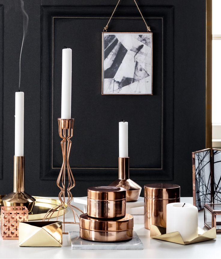 Gold, copper, silver. We love metallic details! #HMHome