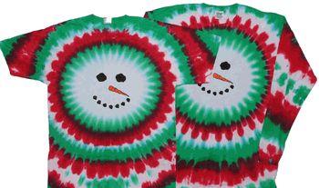 Tie dye snowman shirt.
