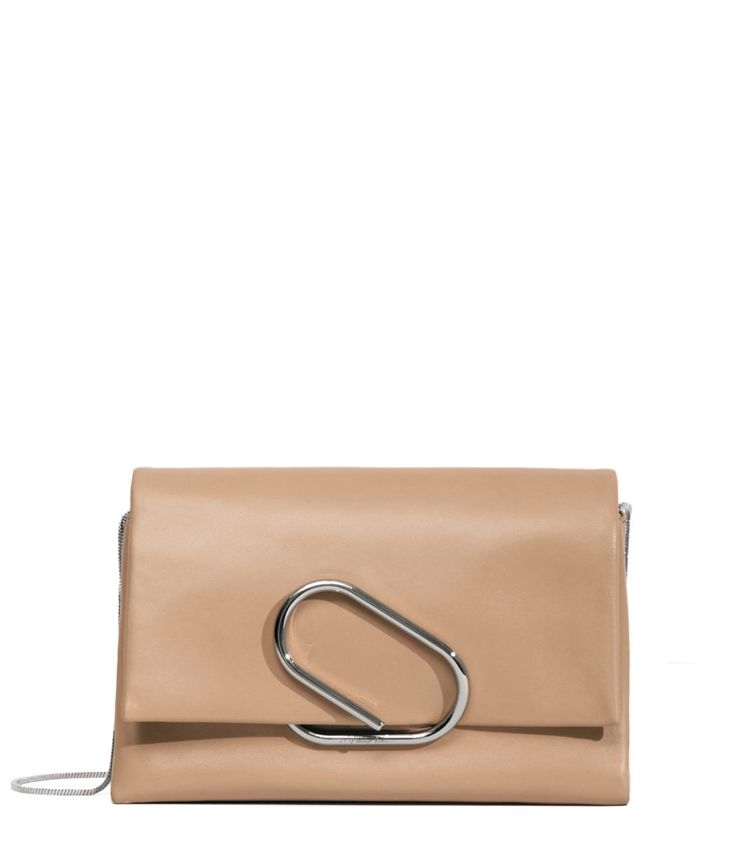 Clutch Bag On Sale in Outlet, Fawn, Leather, 2017, one size 3.1 Phillip Lim