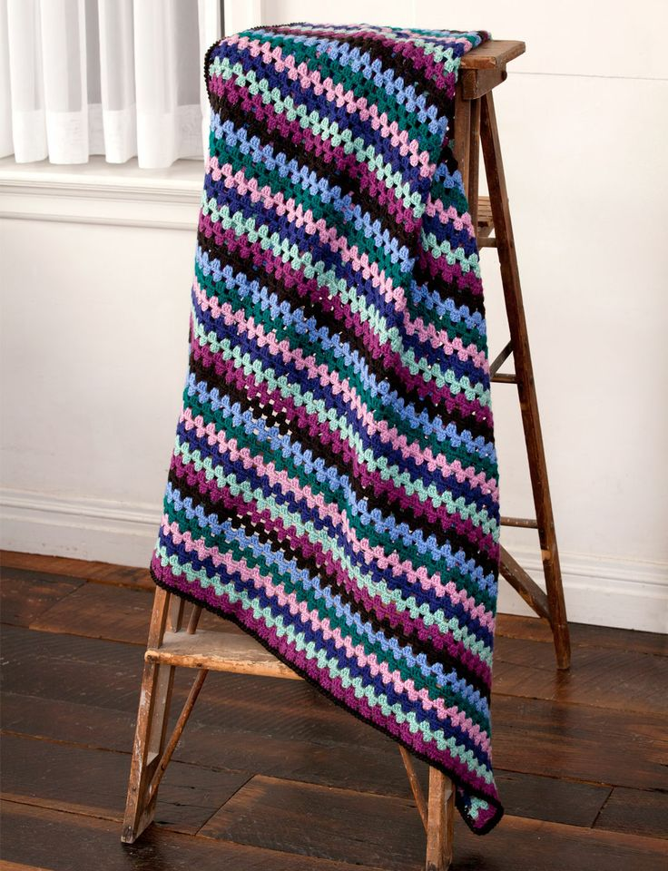 Knit Afghan Patterns In Strips : 1000+ images about Granny Hooks on Pinterest Afghans ...