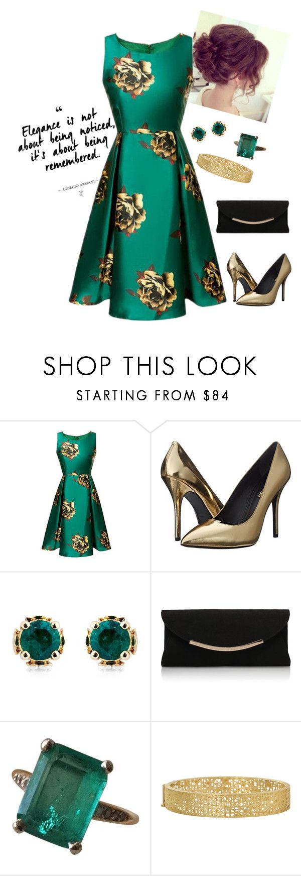 """The Wedding Guest"" by loves-fashion-style ❤ liked on Polyvore featuring Pierre Balmain, Theo Fennell, Carvela Kurt Geiger and Yossi Harari"