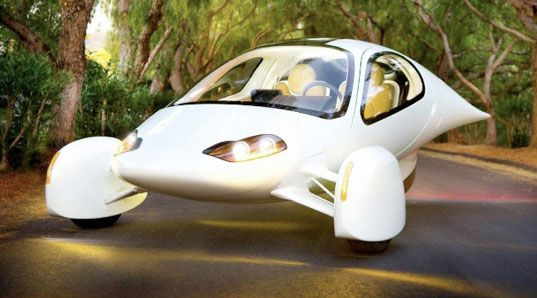 The Aptera (Greek for wingless) Hybrid is an environmentally friendly car that looks like an anemic space fighter and it is being produced.