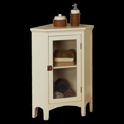 Elegant Home Fashions Madison Avenue Corner Floor Cabinet - White