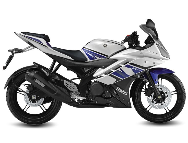Yamaha YZF-R15 v2.0 Engine type Liquid-cooled, 4-stroke, SOHC, 4-valve Displacement	149.8cc Maximum power	17PS/ 8,500rpm Maximum torque	15N.m / 7,500rpmm Starting system	Electric start Lubrication	wet sump Fuel tank capacity	12 liters Fuel supply system	Fuel Injection Frame type	Delta box Brake type (Front / Rear)	Hydraulic, single disc (Front / Rear) Suspension type (Front / Rear)	Telescopic / Linked type Monocross