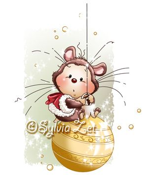 Wee Stamps Sylvia Zet: Xmas Hamster