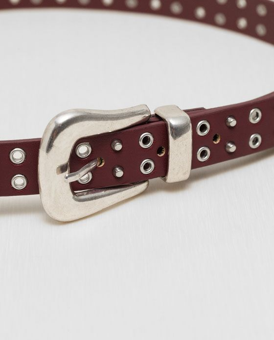 Image 4 of DOUBLE BUCKLED AND STUDDED BELT from Zara
