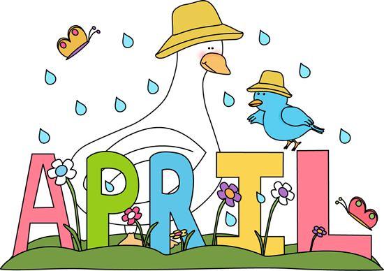 Free Month Clip Art | Rainy Month of April Clip Art Image ...