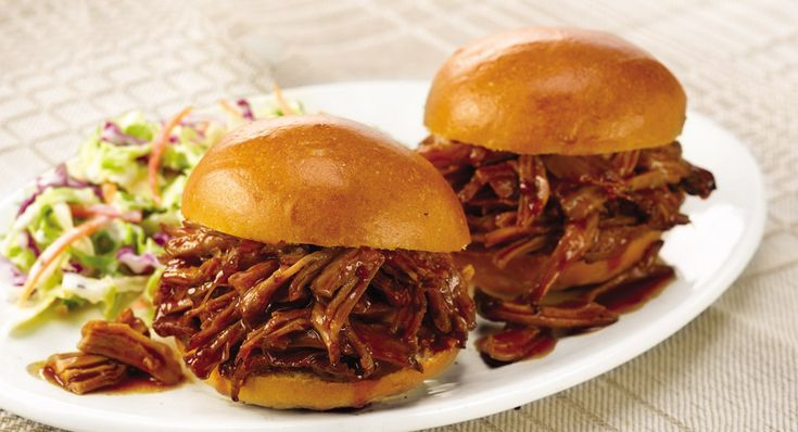 Slow Cookers BBQ Pulled Pork. Samiches! Makes 10 servings. Prep Time: 10 minutesCook Time: 8 hours on LOW or 4 hours on HIGH INGREDIENTS 3 pounds boneless pork shoulder roast, trimmed1 package McCormick® Slow Cookers BBQ Pulled Pork Seasoning 1/2 cup ketchup1/2 cup firmly packed brown sugar1/3 cup cider vinegar