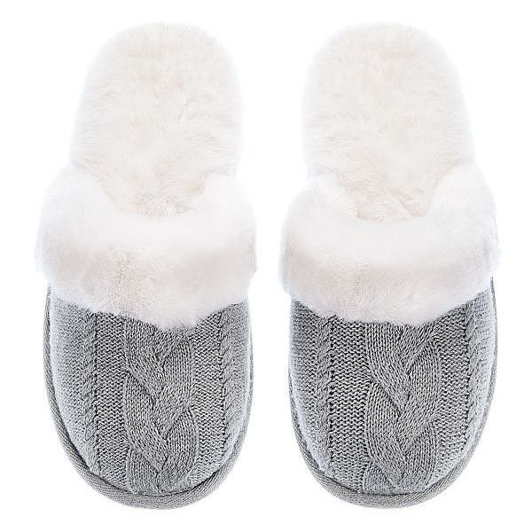 Victoria's Secret The Cozy Slipper ($30) ❤ liked on Polyvore featuring intimates, hosiery, socks, patterned socks, cable knit socks, print socks, cable socks and victoria secret socks