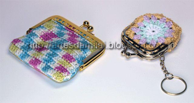 Porta moedas em crochet