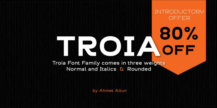 Troia (80% discount, family 8,00 €) - http://fontsdiscounts.com/troia-80-discount-family-12-00/