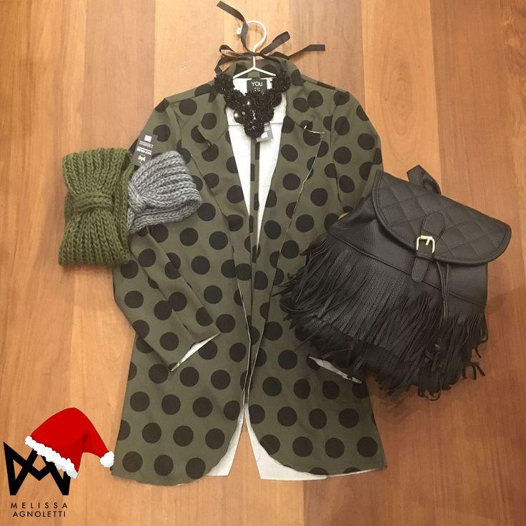 Giacca a pois Fashion con nuovissimi accessori!!! Vieni a scoprire il nostro Concept Store oppure visita il nostro Shop On-Line!