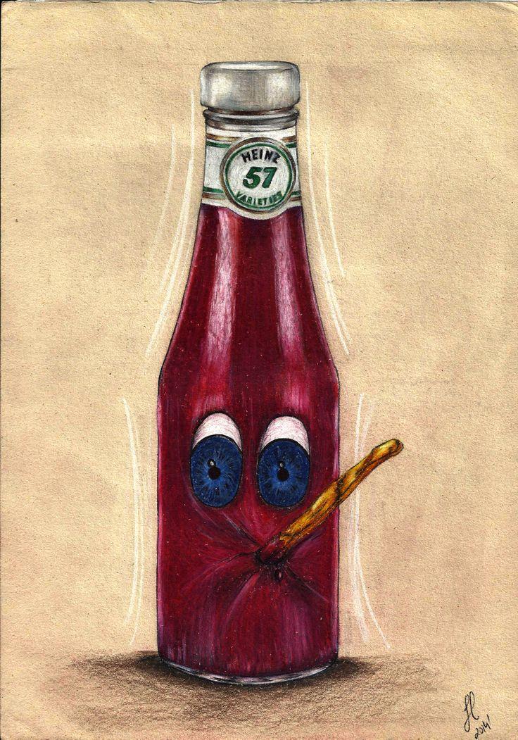 '?Ketchup and fries', Illustration, JulianaMateus'2014'January