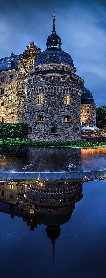 Örebro Castle (rebuilt about 1900). Medieval Castle fortification. Örebro, Narke, Sweden.